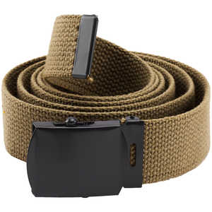 "Rothco Web Belt, 54"", Coyote Brown with Black Buckle"
