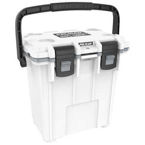 Pelican ProGear 20-Quart Elite Cooler, White/Gray