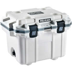 Pelican ProGear 30-Quart Cooler, White/Gray Trim