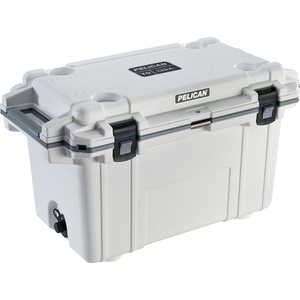 Pelican ProGear 70-Quart Cooler, White/Gray Trim