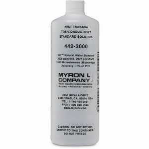 Myron L Company 3,000 ppm 442 Natural Water Standard Solution for Salinity and TDS Calibration, 32 oz. Bottle