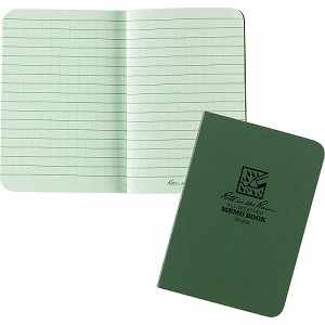 "Rite in the Rain Tactical Memo Book, Green, 3-1/2"" x 5"""