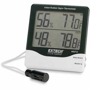 Extech Big Digit Indoor/Outdoor Hygro-Thermometer Model 445713
