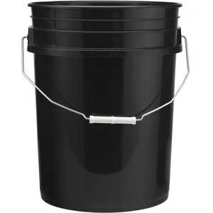 Premium 5-Gallon Bucket, Black
