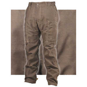 "Crew Boss Classic Brush Pants, 6.6 oz. Pioneer, Khaki, XXX-Large, 47""-50"" Waist, 34"" Inseam"