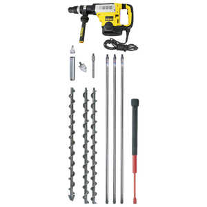 AMS Flighted Auger Kit with Hammer Drill