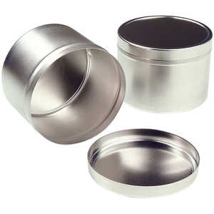Tin Sample Canisters, 6 oz., Carton of 36