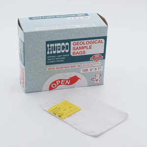 "Hubco Cloth Soil Sample Bags, 5"" x 7"", Box of 100"