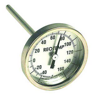 "ReoTemp 12""L Heavy-Duty Soil Thermometer, Pointed Stem, Celsius Scale"
