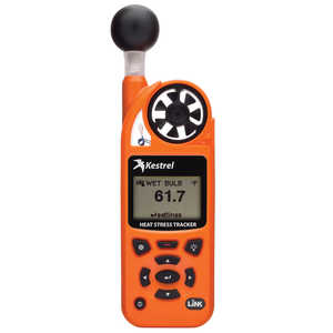 Kestrel 5400 Heat Stress Tracker with LiNK and Vane Mount, Orange