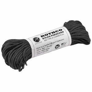 Type III Commerical Paracord, 550 lb. Test, 100´ Black