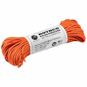 Type III Commerical Paracord, 550 lb. Test, 100´ Safety Orange