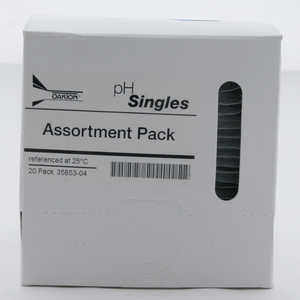 Oakton pH Calibration Singles, Assortment, 20 ml Pouches, Box of 20