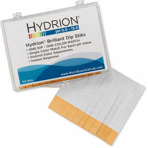 Hydrion pH Paper, Dip Sticks