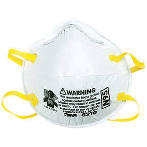 3M 8210 N95 Particulate Respirator, Box of 20