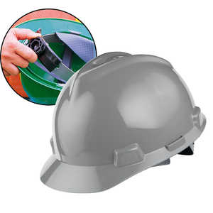 MSA V-Gard Slotted Cap w/Ratchet, Gray