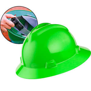 MSA V-Gard Hat w/Ratchet, Lime