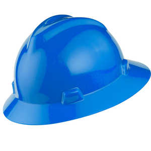 MSA V-Gard Hat w/Ratchet, Blue