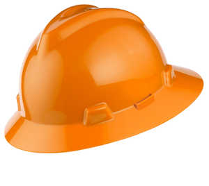 MSA V-Gard Hat w/Staz-On Susp., Orange