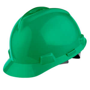 MSA V-Gard Slotted Cap w/Staz-On Susp., Green