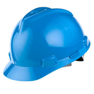 MSA V-Gard Slotted Cap w/Staz-On Susp., Blue