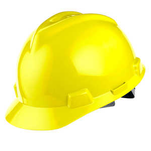 MSA V-Gard Slotted Cap w/Staz-On Susp., Yellow
