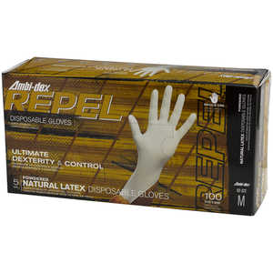 Ambi-Dex® Repel Disposable Thin Wall 5 mil Latex Gloves