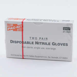 Forestry Suppliers First Aid Refill, Nitrile Gloves, Box of 4