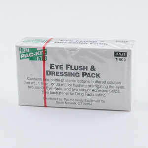 Forestry Suppliers First Aid Refill, Eyewash (1 oz.) with 2 Eye Pads and 2 Strips