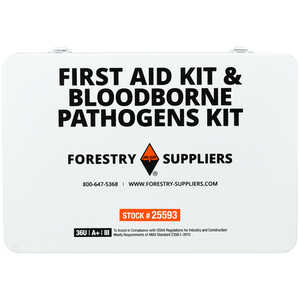 Forestry Suppliers Unitized First Aid, CPR, and Bloodborne Pathogens Kit, 36-Unit