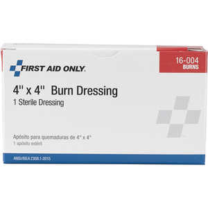 "Forestry Suppliers First Aid Refill, Burn Dressing, 4"" x 4"""