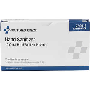Forestry Suppliers First Aid Refill, Hand Sanitizer, 0.9g Packets, Box of 10
