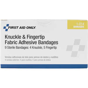 Forestry Suppliers First Aid Refill, Knuckle and Fingertip Fabric Adhesive Bandages, Box of 9