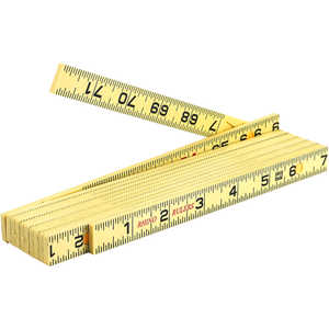 6' Carpenter's Ruler, Rhino Rulers Fiberglass Folding Ruler