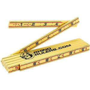 6' Engineer's Ruler, Rhino Rulers Fiberglass Folding Ruler