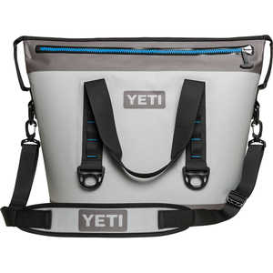 YETI Hopper Two 30 Soft-Side Cooler, 30-Quart Capacity, Fog Gray