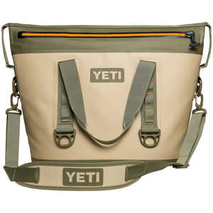YETI Hopper Two 30 Soft-Side Cooler, 30-Quart Capacity, Field Tan