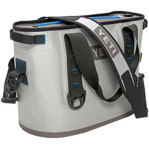 YETI Hopper 20 Soft-Side Cooler, 20-Quart Capacity, Fog Gray