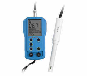 Hanna Instruments Portable pH/EC/TDS Temperature Meter, High Range EC & TDS