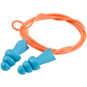 Tasco Tri-Grip Jr. Reusable Earplugs, Corded without Case
