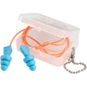 Tasco Tri-Grip Jr. Reusable Earplugs, Corded with Case