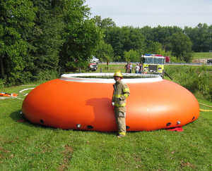 2,500 Gallon Fol-Da-Tank Frameless Open Top Collapsible Water Tank