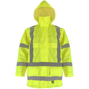 Viking Open Road Hi-Viz Yellow Rain Jacket, Class 3, XX-Large
