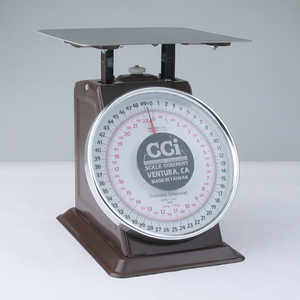 Table Top Dial Scale, 50 lbs. x 2 oz./22 kg x 100 g