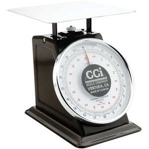 Table Top Dial Scale, 20 lbs. x 1 oz./9 kg x 50 g