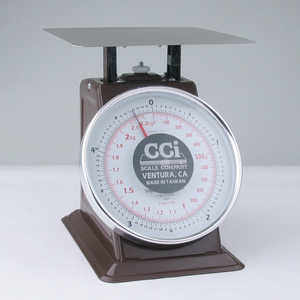 Table Top Dial Scale, 5 lbs. x 1/2 oz./2.2 kg x 10 g