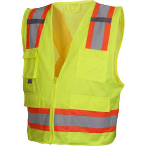 Pyramex® ANSI Class 2/CSA Z96 Two-Tone Mesh Safety Vests