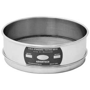 "Advantech Manufacturing 8"" Stainless Steel Testing Sieves