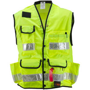 "SECO Class 2 Surveyor's Vest with Mesh Back, Lime Yellow, XX-Large, 56""-58"" Chest"