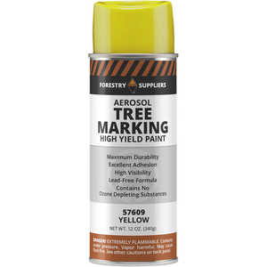 Forestry Suppliers Aerosol Tree Marking Paint, 12 oz., Yellow